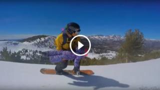 Snowboard in tandem con papà