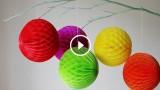 """Come realizzare i famosi """"honeycomb balls"""" (le palline di carta a nido d'ape)"""
