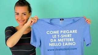 Dovete partire con lo zaino? Piegate le T-shirt così!