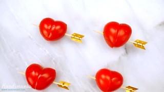 Come fare i pomodorini a forma di cuore