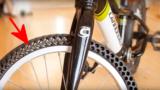 Le gomme da bicicletta che non si possono forare perché sono già forate !