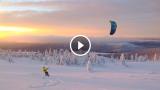 Lo snowkite è uno sport a divertimento ESTREMO!