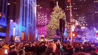 Accensione delle luci dell'Albero di Natale al Rockefeller Center di New York