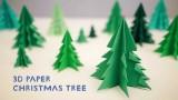 Alberi di Natale di carta in 3D