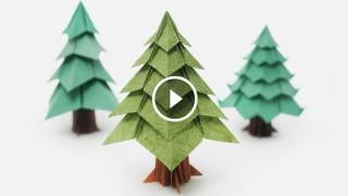 Come fare l'alberello di Natale origami