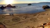 Opere d'arte che svaniscono con l'onda del mare…