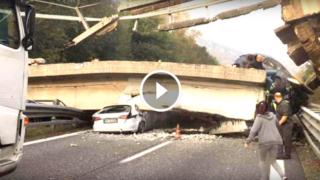 Il video del ponte che crolla (cavalcavia di Annone a Lecco)