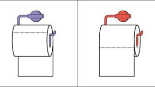 Tutta la verità sulla carta igienica: lo sapete che esiste un modo corretto per appendere il rotolo in bagno?