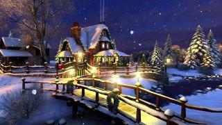 Cartolina animata di Natale ricca d'atmosfera