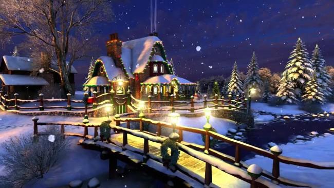 Cartoline Di Natale Immagini.Cartolina Animata Di Natale Ricca D Atmosfera