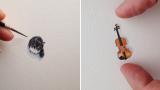 Realizza un solo, piccolissimo disegno al giorno. Dei veri capolavori in miniatura