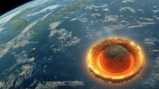 Simulazione di impatto con un asteroide di grandi dimensioni
