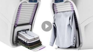 La macchina che stira e piega qualsiasi abito in meno di un minuto