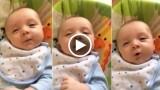 """Neonato di 7 settimane dice """"HELLO!"""", che fenomeno!"""