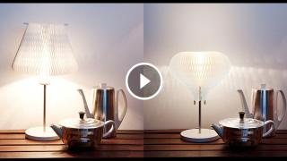 Una lampada che si trasforma con un gesto