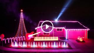 100mila luci di Natale che si accendono a tempo di Star Wars