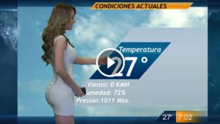 """In Messico picchi di ascolto delle previsioni del tempo da quando c'è lei: """"La chica del tiempo"""""""