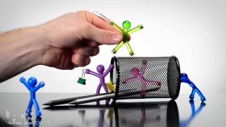 Mini magneti a forma di omini trasparenti