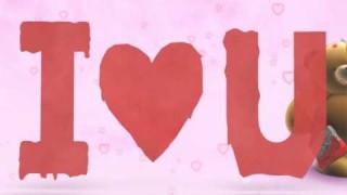"""Ho disegnato un San Valentino per te: """"I love you"""""""