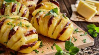 PATATE FILANTI A FISARMONICA – un piatto semplice, di grande effetto e che piace ai golosi