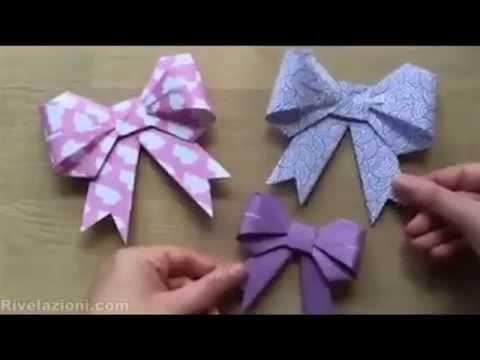 Realizzare dei fiocchi con un semplice foglio