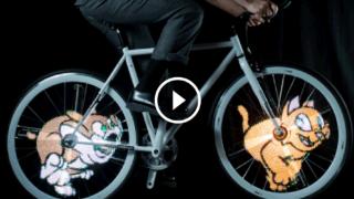 E se le ruote della tua bici fossero gif animate ? Oggi lo puoi fare, guarda!