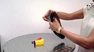 Scarpe con tacco intercambiabile, semplicemente premendo un bottone