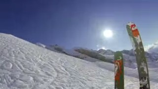 La discesa da brivido sugli sci
