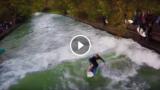 A Monaco di Baviera si fa surf in città sul fiume, che spettacolo!