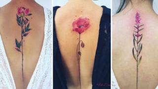 I tatuaggi botanici che sembrano sbocciare dal corpo