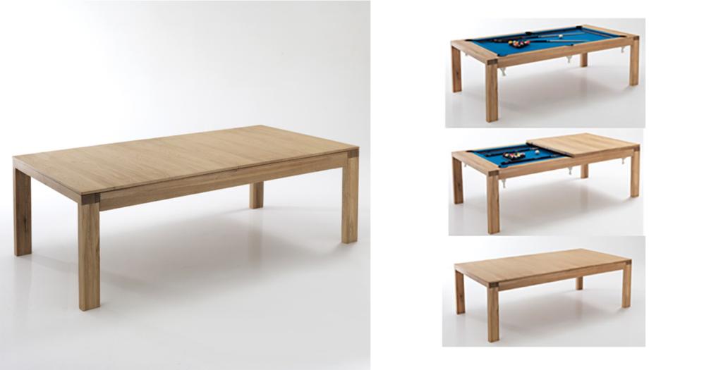 Un tavolo da pranzo che nasconde un tavolo da Biliardo!
