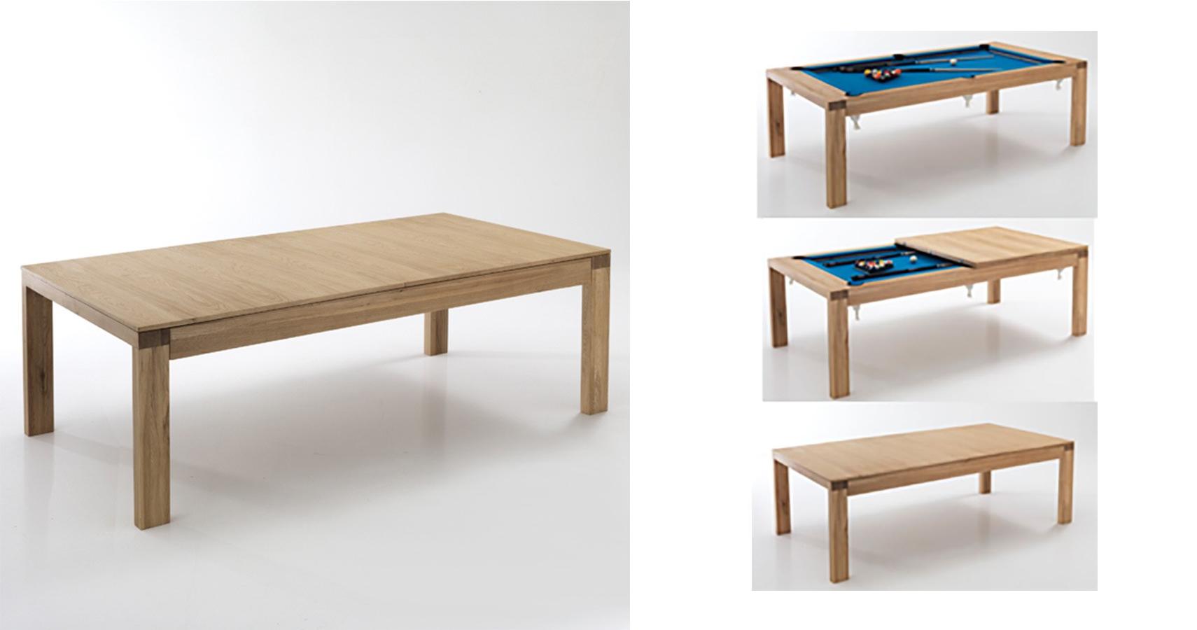 Un tavolo da pranzo che nasconde un tavolo da biliardo - Tavolo pranzo biliardo ...