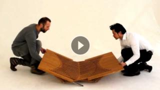 Pezzi di legno che sembrano effetti ottici, e si trasformano in qualcosa di inaspettato