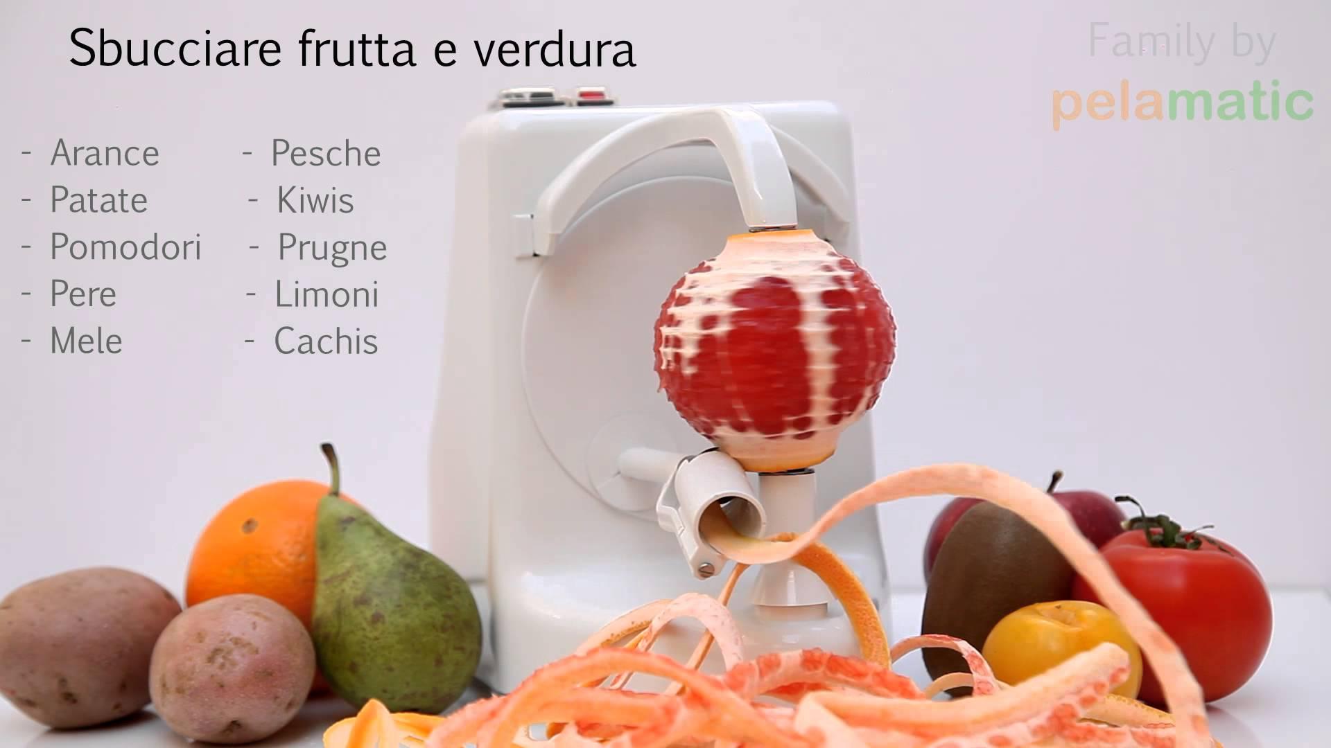 Un oggetto che sbuccia qualsiasi frutta e ortaggio