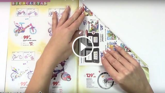 Come realizzare Alberi di Natale riciclando depliant pubblicitari o riviste